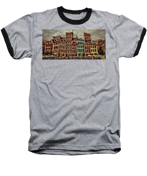 Old Town In Warsaw #15 Baseball T-Shirt
