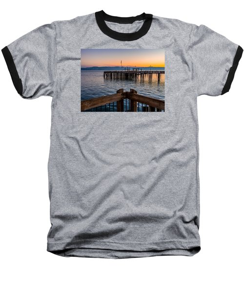Old Town Pier During Sunrise On Commencement Bay Baseball T-Shirt by Rob Green