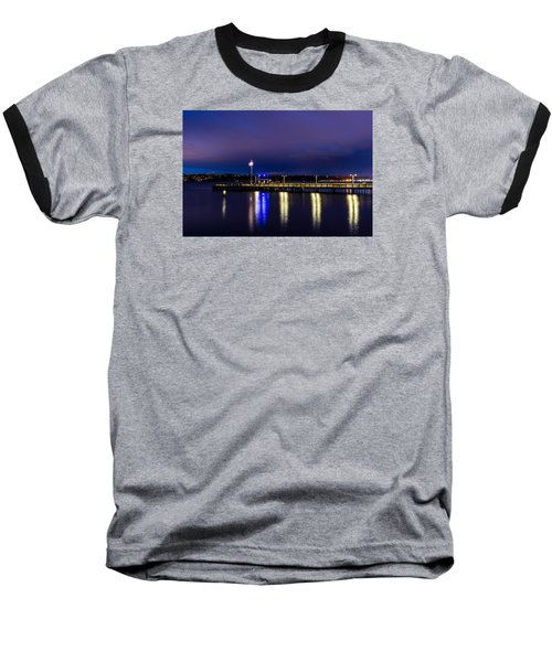 Old Town Pier During The Blue Hour Baseball T-Shirt