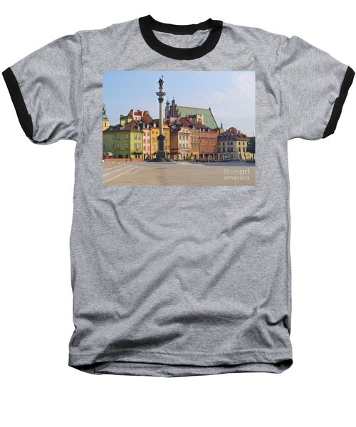Old Town Square Zamkowy Plac In Warsaw Baseball T-Shirt by Anastasy Yarmolovich