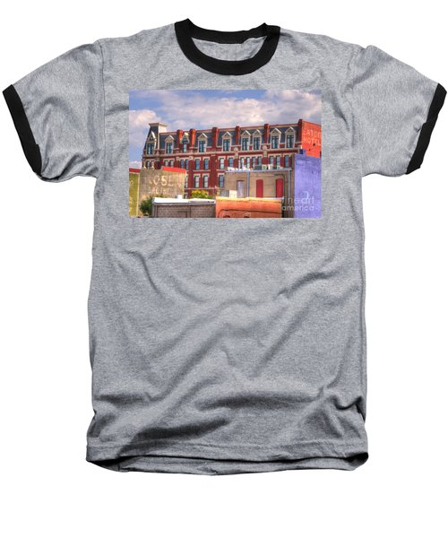 Old Town Wichita Kansas Baseball T-Shirt by Juli Scalzi
