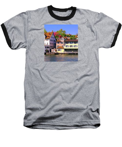 Old Town Zurich, Switzerland Baseball T-Shirt