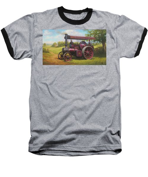 Old Traction Engine. Baseball T-Shirt
