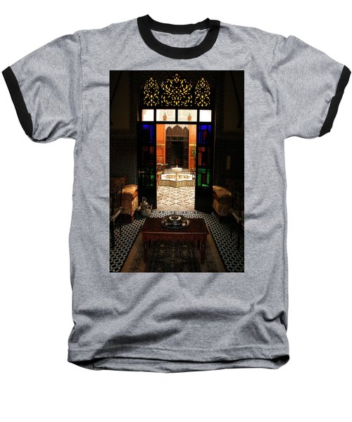Old Traditional Riad In Fez Baseball T-Shirt by Ralph A  Ledergerber-Photography