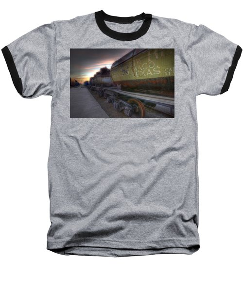 Old Train - Galveston, Tx 2 Baseball T-Shirt by Kathy Adams Clark