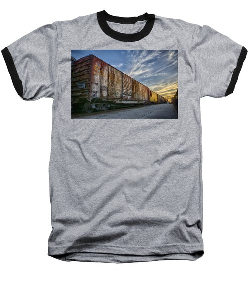Old Train - Galveston, Tx Baseball T-Shirt by Kathy Adams Clark
