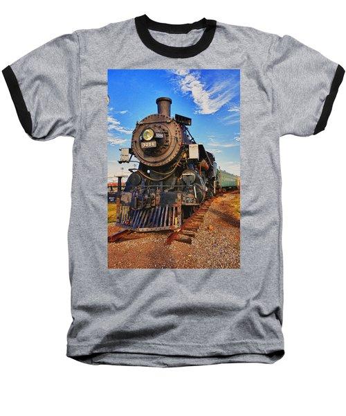 Old Train Baseball T-Shirt