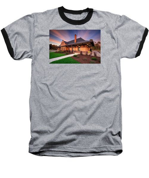 Old Train Station Baseball T-Shirt