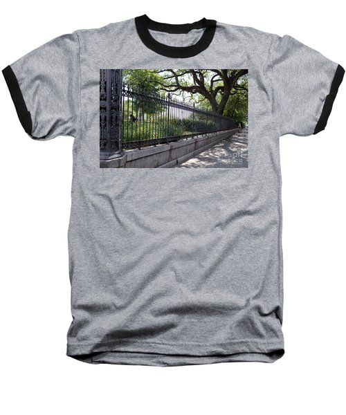 Old Tree And Ornate Fence Baseball T-Shirt