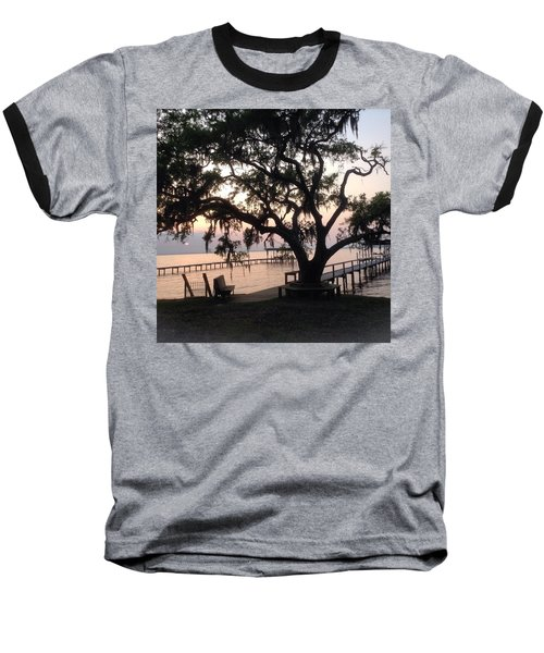 Old Tree At The Dock Baseball T-Shirt by Christin Brodie