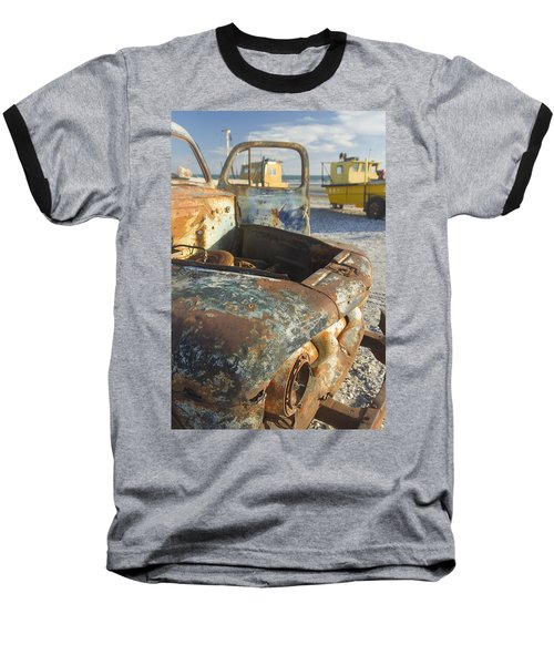Old Truck In The Beach Baseball T-Shirt