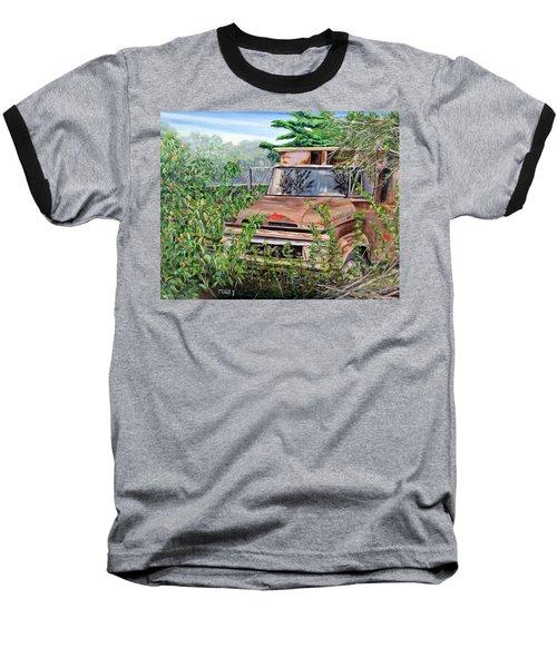 Old Truck Rusting Baseball T-Shirt