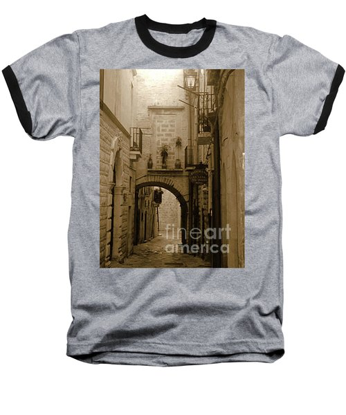 Old Village Street Baseball T-Shirt