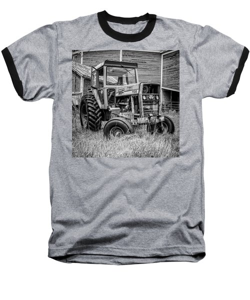 Old Vintage Tractor On A Farm In New Hampshire Square Baseball T-Shirt