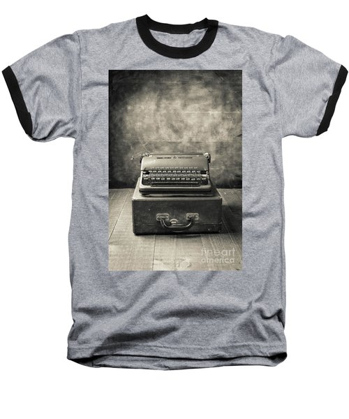 Baseball T-Shirt featuring the photograph Old Vintage Typewriter  by Edward Fielding