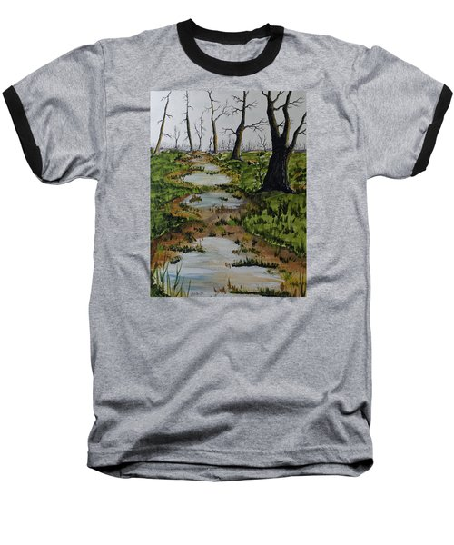 Old Walking Trail Baseball T-Shirt by Jack G  Brauer