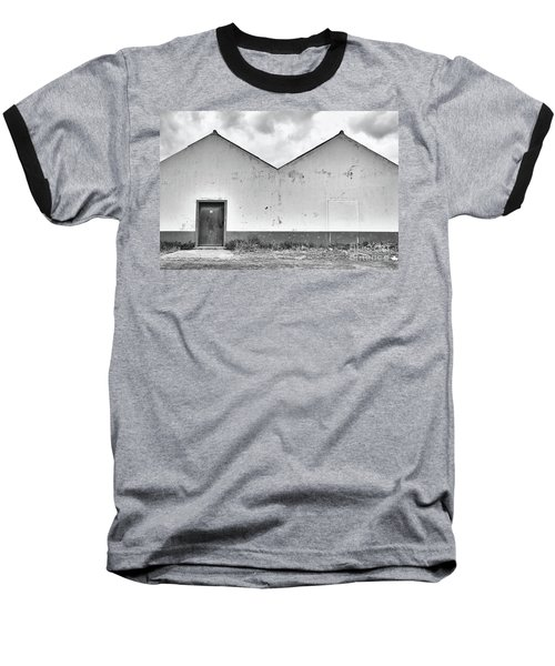 Old Warehouse Exterior Baseball T-Shirt