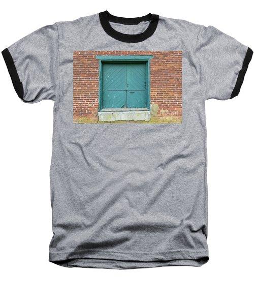 Old Warehouse Loading Door And Brick Wall Baseball T-Shirt