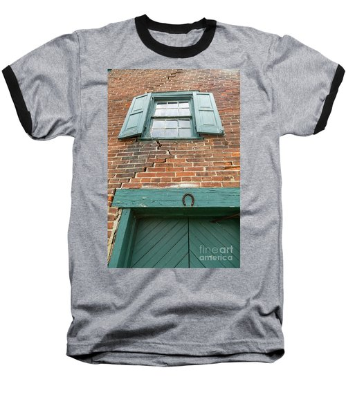 Old Warehouse Window And Lucky Door Baseball T-Shirt
