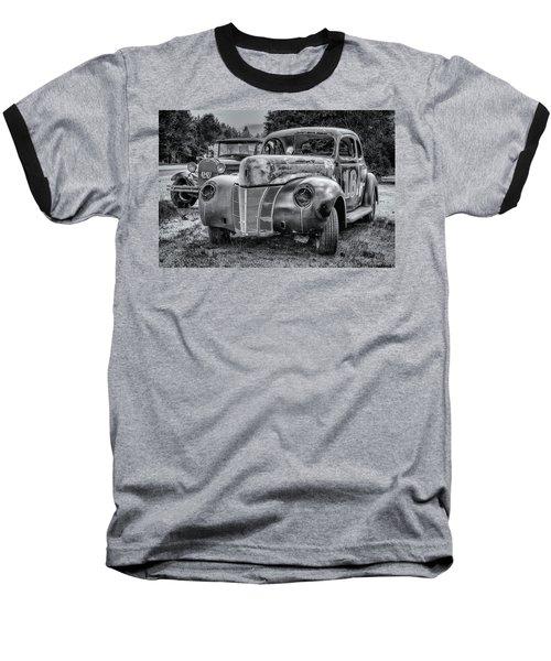 Old Warrior - 1940 Ford Race Car Baseball T-Shirt by Ken Morris