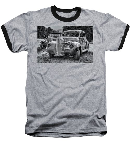 Old Warrior - 1940 Ford Race Car Baseball T-Shirt