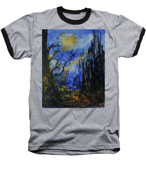 Baseball T-Shirt featuring the painting Old Ways by Christophe Ennis