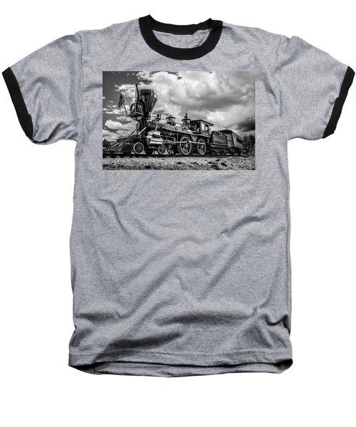Old West Train Baseball T-Shirt