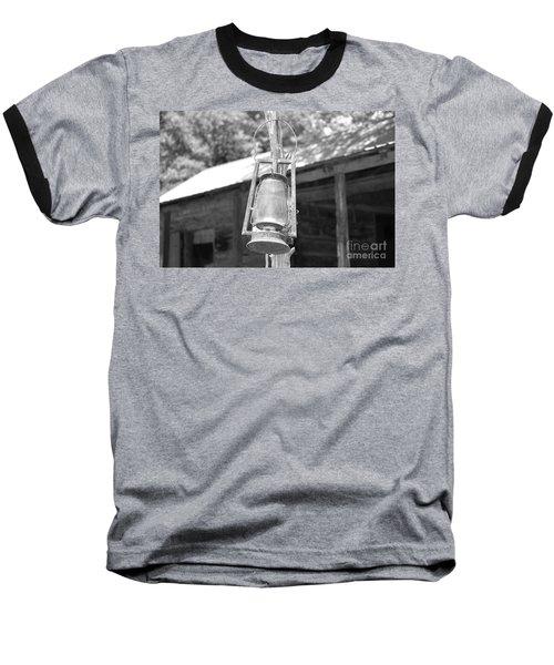 Old Western Lantern Baseball T-Shirt by Ray Shrewsberry
