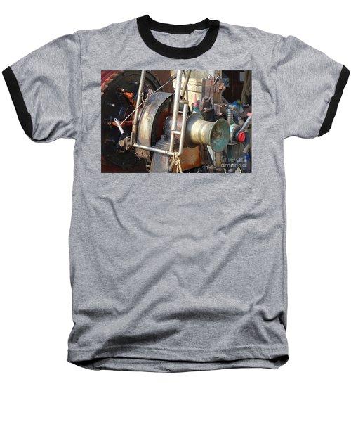 Old Winch On A Fishing Boat Baseball T-Shirt by Yali Shi
