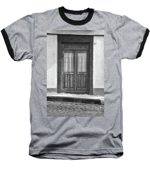 Old Wooden House Door Baseball T-Shirt