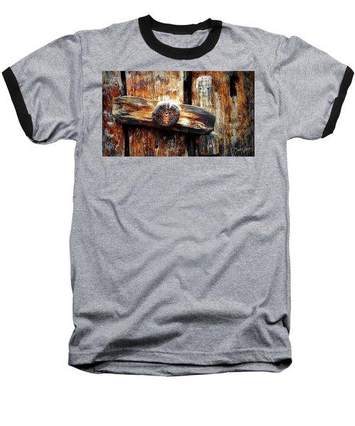 Old Wooden Latch Baseball T-Shirt
