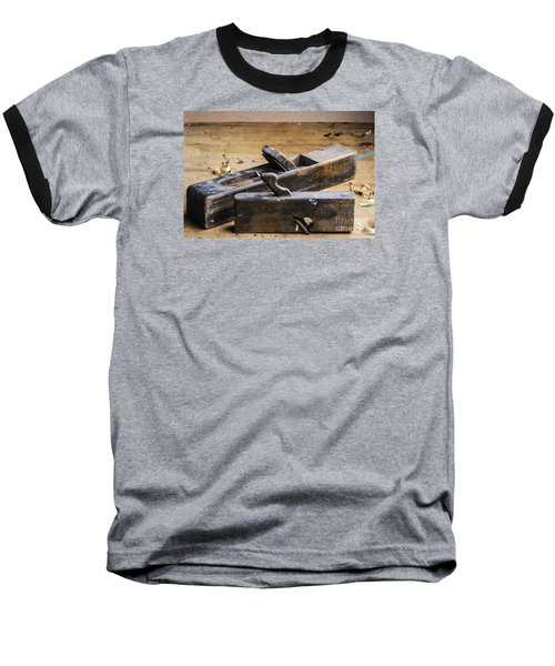 Old Wooden Planes Baseball T-Shirt by Trevor Chriss