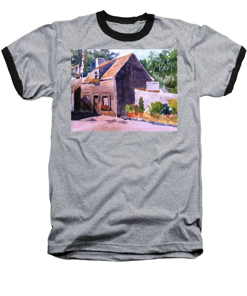 Old Wooden School House Baseball T-Shirt by Larry Hamilton
