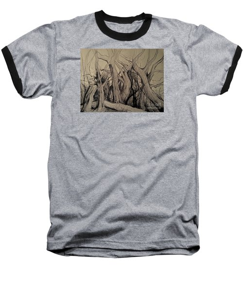 Old Woods Baseball T-Shirt by Maja Sokolowska