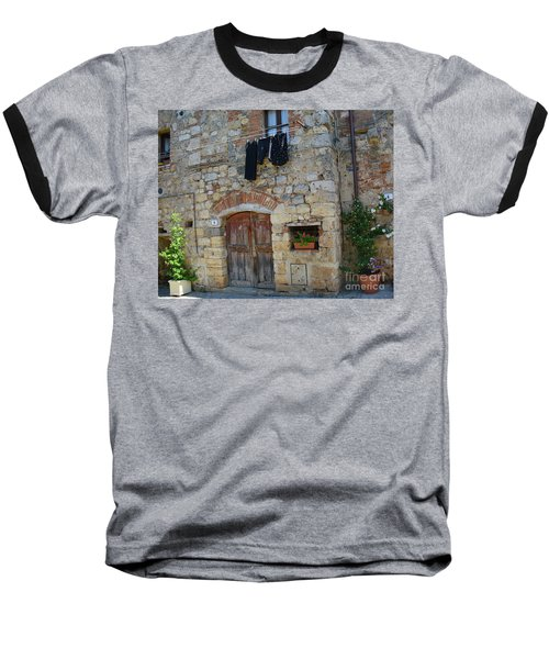 Old World Door Baseball T-Shirt