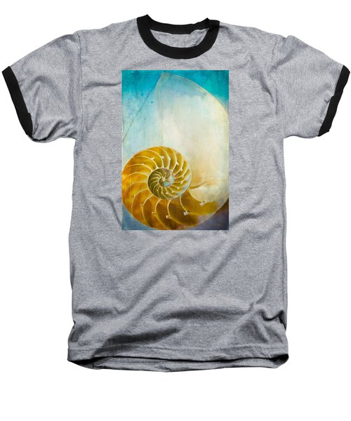 Old World Treasures - Nautilus Baseball T-Shirt by Colleen Kammerer