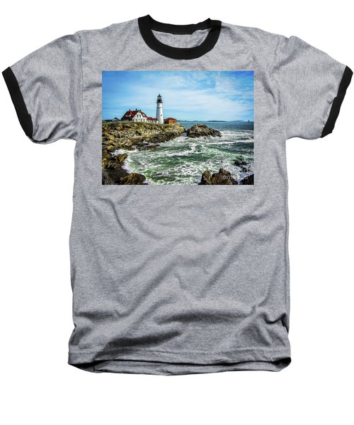 Oldest Lighthouse In Maine Baseball T-Shirt