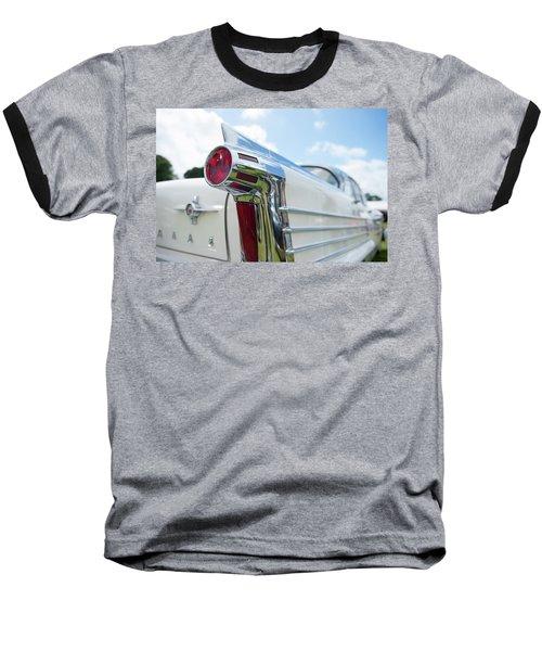 Oldsmobile Tail Baseball T-Shirt by Helen Northcott