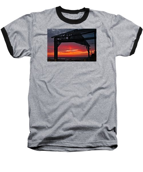 Ole Shipyard Framing Baseball T-Shirt by Laura Ragland
