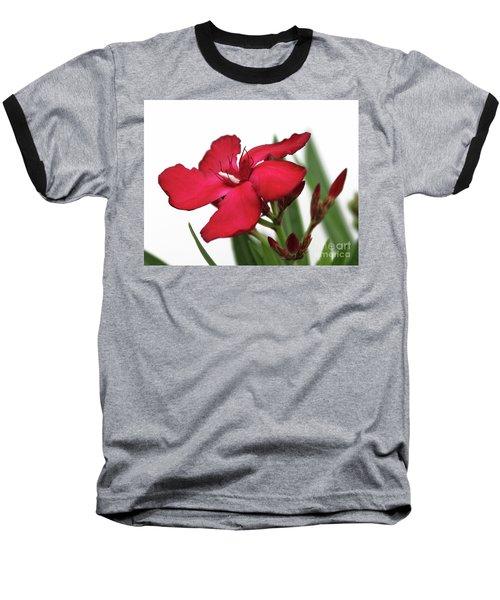 Oleander Blood-red Velvet 2 Baseball T-Shirt