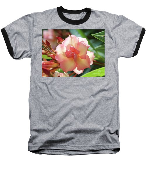 Baseball T-Shirt featuring the photograph Oleander Mrs. Roeding 1 by Wilhelm Hufnagl