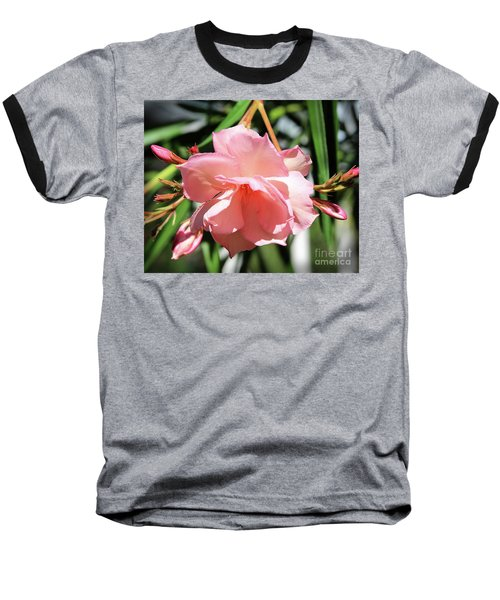 Oleander Mrs. Roeding 3 Baseball T-Shirt by Wilhelm Hufnagl