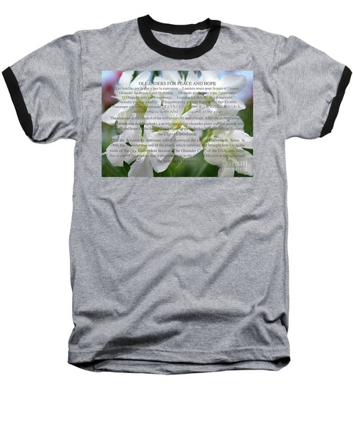 Oleanders For Peace And Hope Baseball T-Shirt