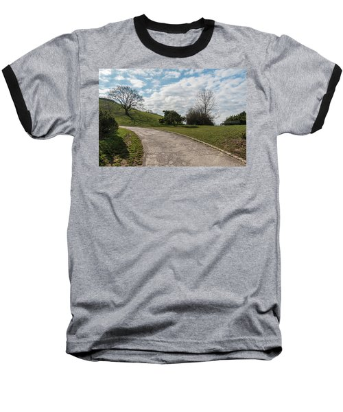 Baseball T-Shirt featuring the photograph Olimpia Park. Munich by Sergey Simanovsky