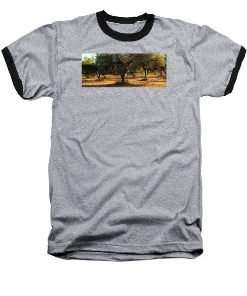 Olive Grove 3 Baseball T-Shirt