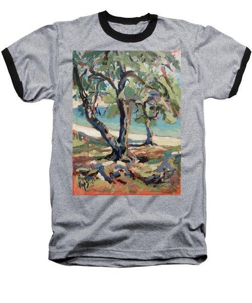 Olive Trees Along Marmari Beach Paxos Baseball T-Shirt
