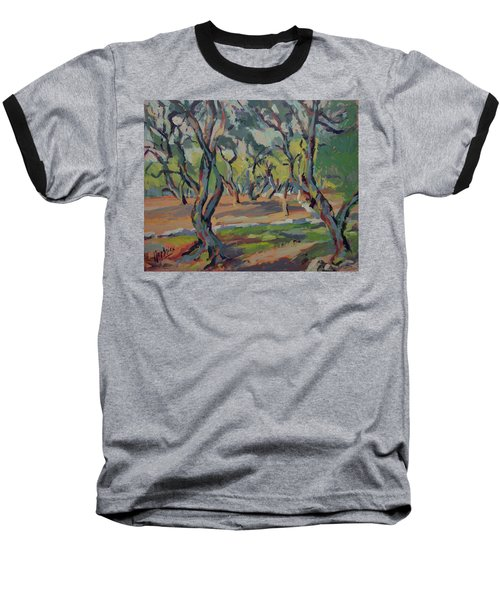 Olive Yard Paxos Greece Baseball T-Shirt