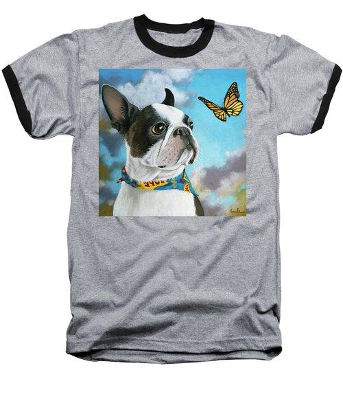 Oliver - Dog Pet Portrait Baseball T-Shirt