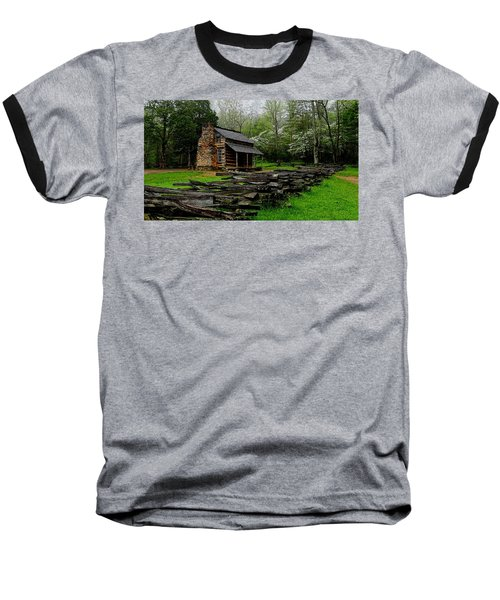 Oliver's Cabin Among The Dogwood Of The Great Smoky Mountains National Park Baseball T-Shirt