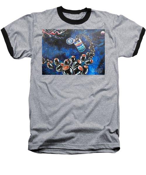 Blaa Kattproduksjoner                     Oliveus Are Canned Together Can Baseball T-Shirt